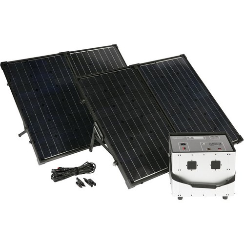 Humless Complete Solar Power System with Solar Generator  3000 Surge Watts, 1500 Rated Watts,