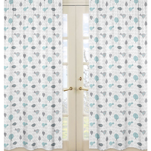 Sweet Jojo Designs Earth and Sky Collection Window Panels by - Bird Print