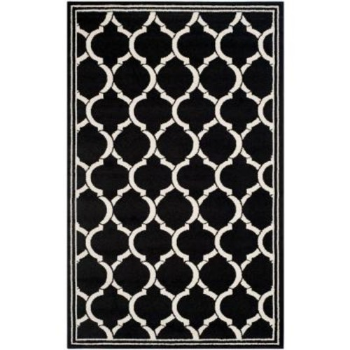 Safavieh Amherst Anthracite/Ivory 4 ft. x 6 ft. Indoor/Outdoor Area Rug