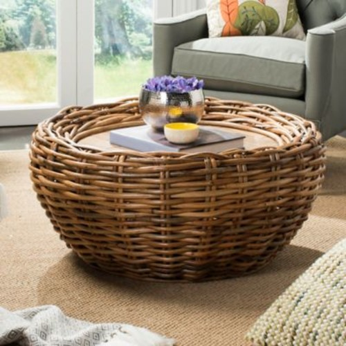 Safavieh Alley Coffee Table in Brown