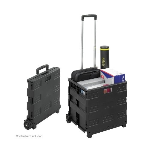 Universal 14110 Collapsible Mobile Storage Crate, 18 1/4 x 15 x 18 1/4 to 39 3/8, Black [Black]