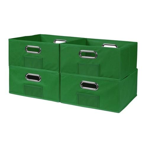 Niche Cubo 12 in. x 6 in. Green Folding Fabric Bin (4-Pack)