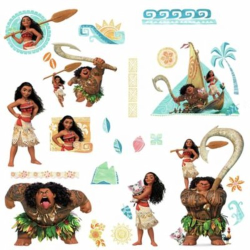 RoomMates Disney Moana Peel and Stick Wall Decals (Set of 25)
