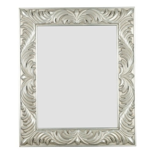 Kenroy Home Antoinette Wall Mirror with Antique Silver Finish, 31 by 37-Inch [Silver]