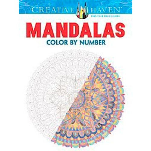 Mandalas Color By Number Adult Coloring Book