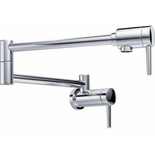 Delta Chrome Pot Filler Wall-mount Faucet