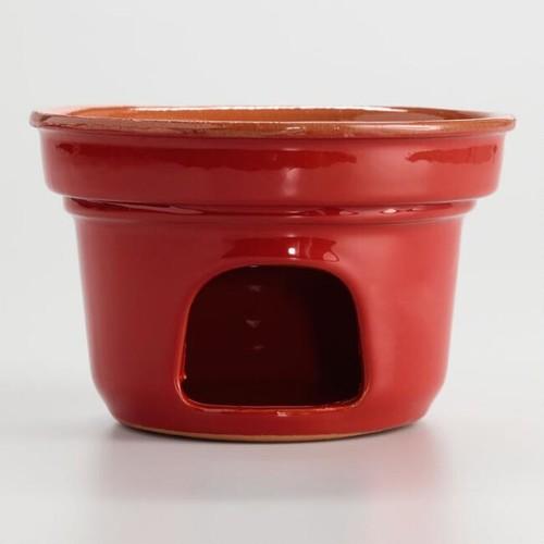 Fojot Red Ceramic Garlic Cooker