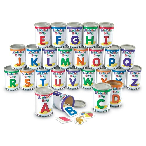 Learning Resources Alphabet Soup Sorters Skill Set