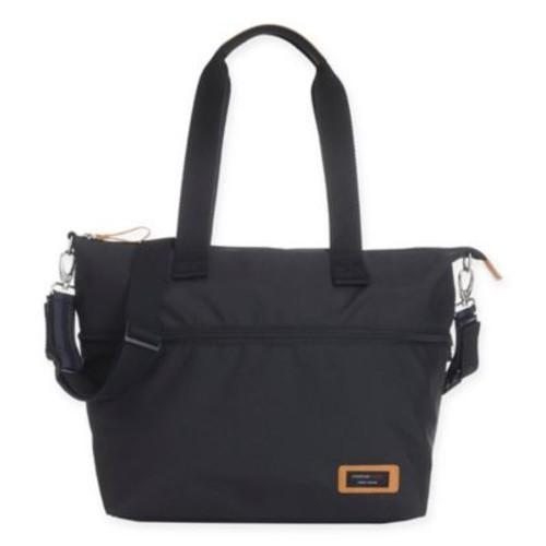 Storksak Travel Expandable Tote Diaper Bag in Black