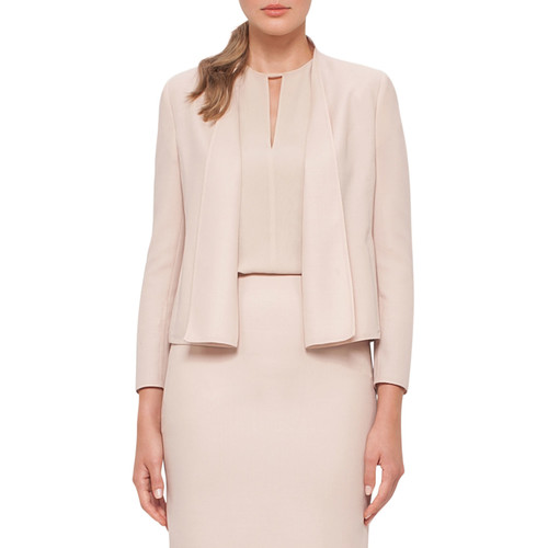 AKRIS Cropped Double-Face Wool Jacket, Neutral