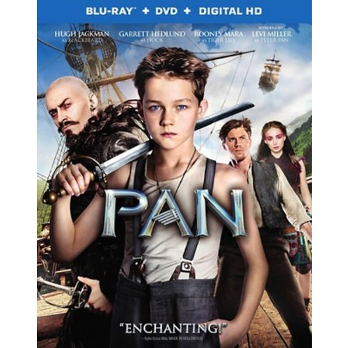 Pan 2015 Blu-Ray Combo Pack (Blu-Ray/DVD/Digital HD)