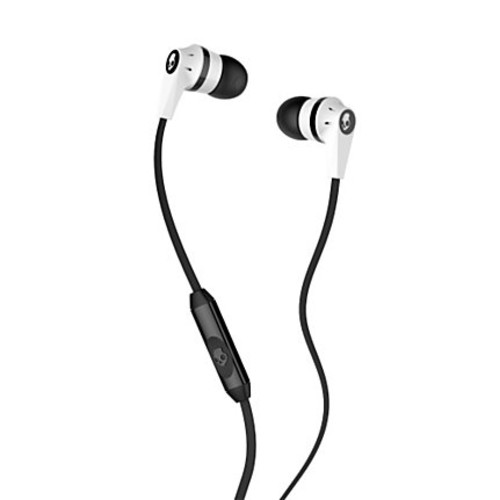 Skullcandy INK'D 2.0 Micd Earbud Headphones, White/Black