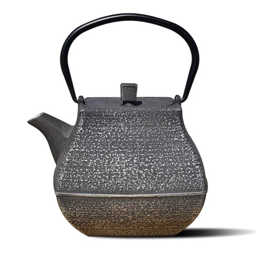 Dutch Meiyo 5.5-Cup Teapot in Silver and Black