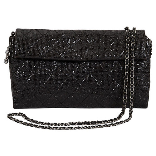 Chanel Black Sequin Cross-Body Flap Bag