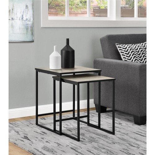 Altra Furniture Stewart Sonoma Oak 2-Piece Nesting End Table
