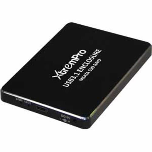 USB3.1 TypeC to mSATA SSD RAID Enclosure