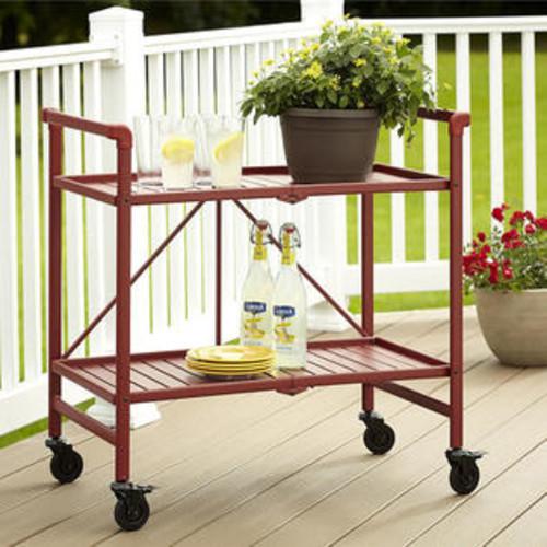 Cosco Indoor/Outdoor Slatted Folding Serving Cart