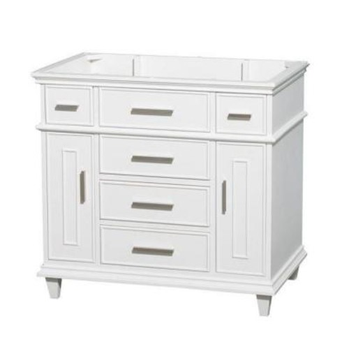 Wyndham Collection Berkeley 36 in. Vanity Cabinet Only in White