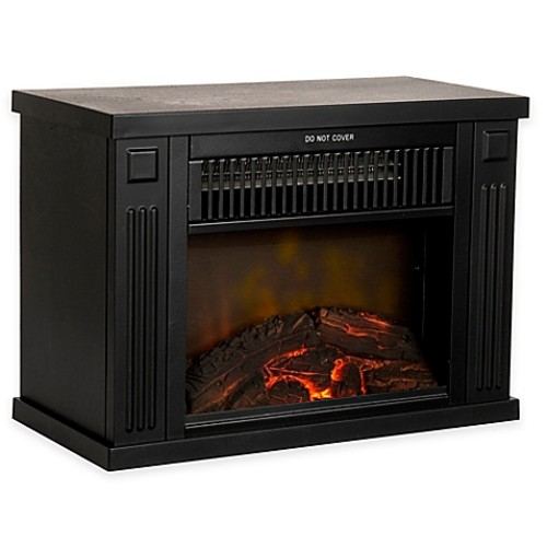 Northwest Mini Portable Electric Fireplace Heater in Black