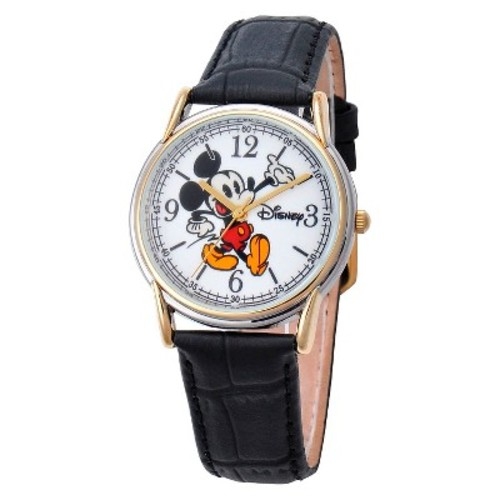 Men's Disney Mickey Mouse Cardiff Two-Tone Watch - Black