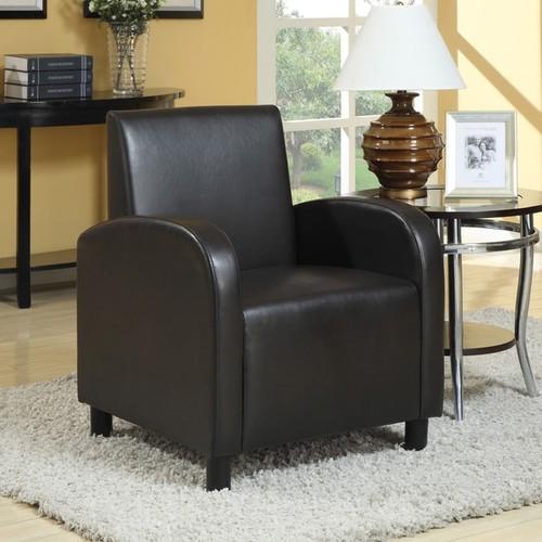 Maxie Black PU Accent Chair