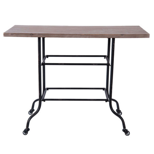 Ashville Wood and Metal Table - Brown