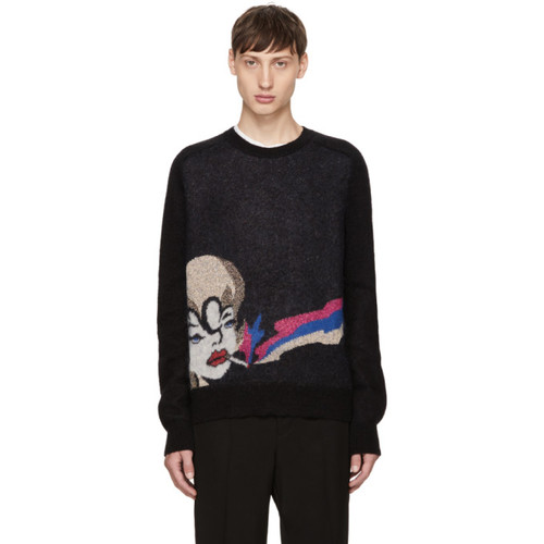 SAINT LAURENT Black Smoking Lady Sweater