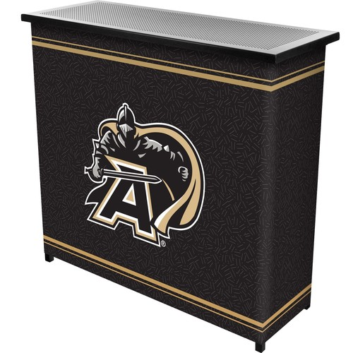 Trademark Global Army Black Knights 2 Shelf Portable Bar With Case