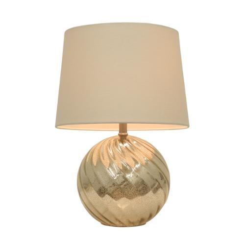 Silver Mercury Swirl Glass Table Lamp