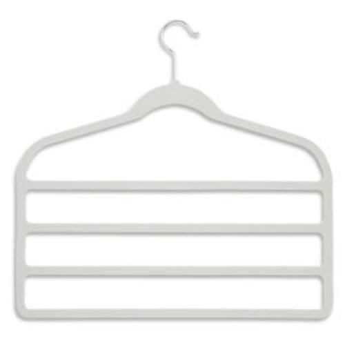 Honey-Can-Do Velvet Touch 4-Step White Pant Hanger (10-Pack)