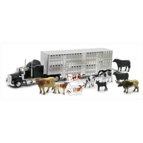 Ray Livestock Hauler With Farm Animals Playset, Pack Of 6 (Nwrt028)