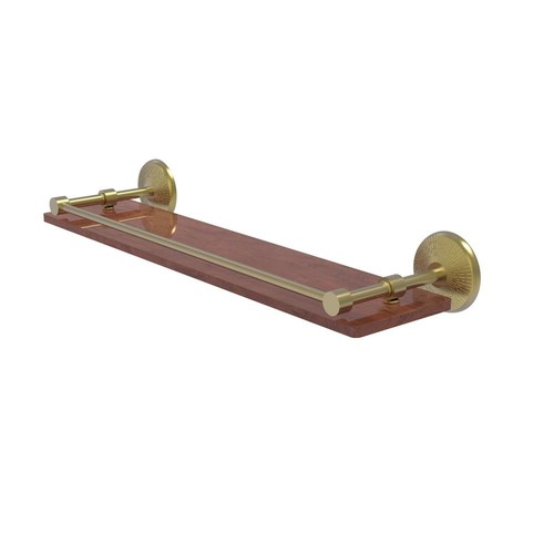 Allied Brass Monte Carlo Collection 22 in. Solid IPE Ironwood Shelf with Gallery Rail in Matte Black