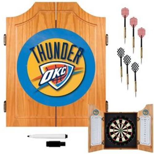 Trademark Oklahoma City Thunder NBA Wood Dart Cabinet Set