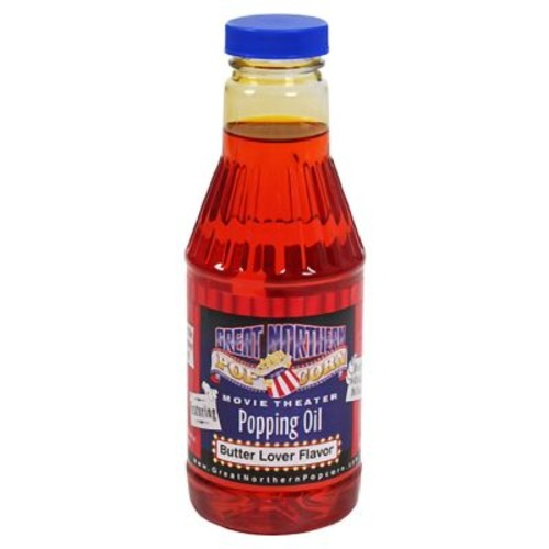 Great Northern Popcorn Premium Butter Popping Oil Pint Flavored Popcorn Oil