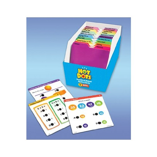Educational Insights Hot Dots Math Standards-Based Review CardsGrade 1