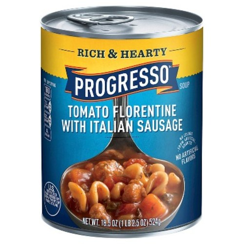 Progresso Rich & Hearty Tomato Florentine with Italian Sausage Soup 18.5 oz
