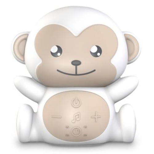 Project Nursery Monkey Sound Soother in White
