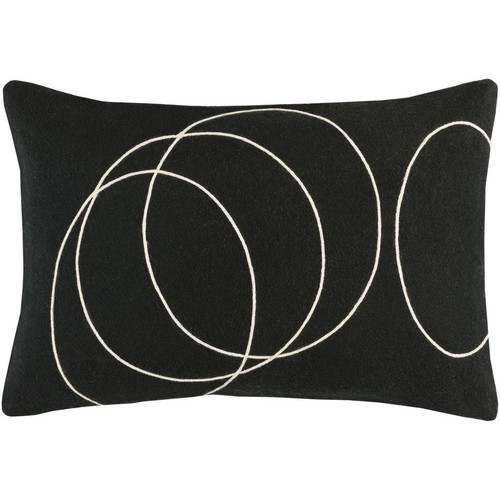Solid Bold Pillow in Black & Cream design by Bobby Berk - 13\