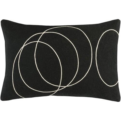 Solid Bold Pillow in Black & Cream design by Bobby Berk - 13\