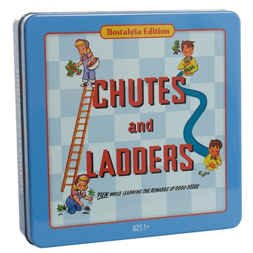 Winning Solutions Chutes and Ladders Board Game - Nostalgia Edition