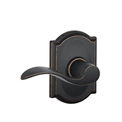 Camelot Trim with Accent Hall and Closet Lever, Aged Bronze (F10 ACC 716 CAM)