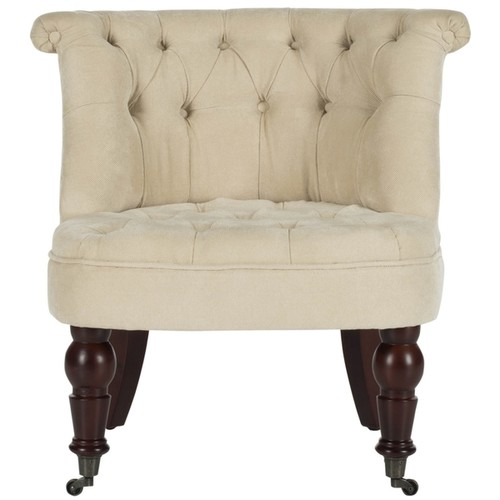 Safavieh En Vogue Carlin Natural Cream Tufted Chair