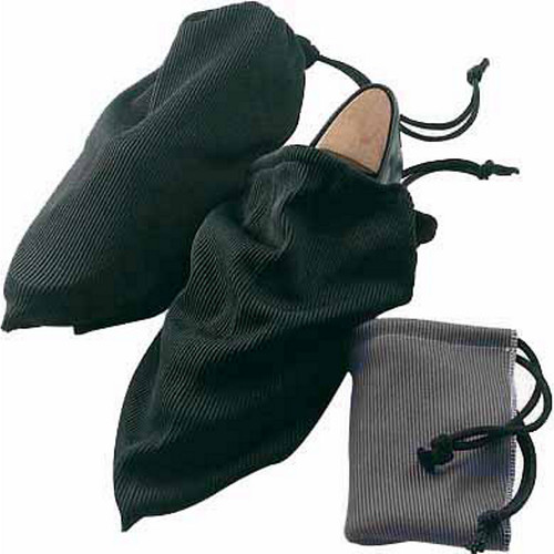 Lewis N. Clark Travel Shoe Bags with Drawstring Closures,Black/charcoal,One Size [black/charcoal]