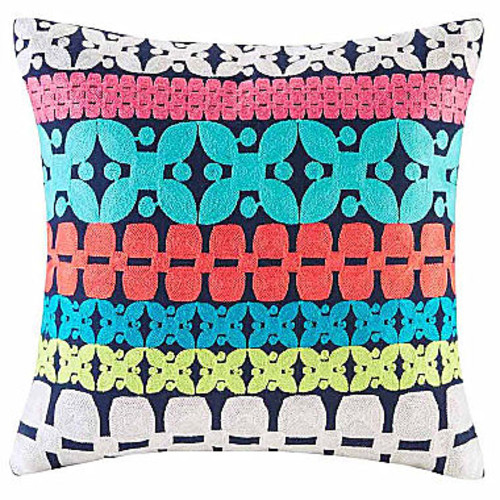 Mix & Match Embroidery Square Throw Pillow