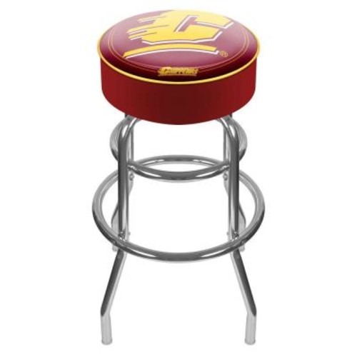 Trademark Central Michigan University 31 in. Chrome Padded Swivel Bar Stool