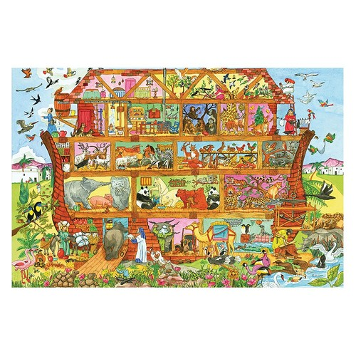 Bigjigs Toys Noah's Ark Floor Puzzle (24 Piece) - Wooden Jigsaw