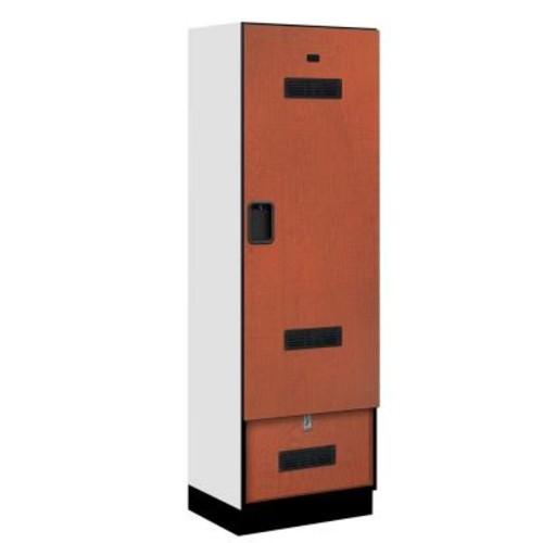 Salsbury Industries 30000 Series 24 in. W x 76 in. H x 18.75 in. D Designer Gear Locker in Cherry