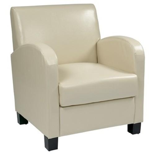 Eco Leather Club Chair Cream/Espresso - Office Star
