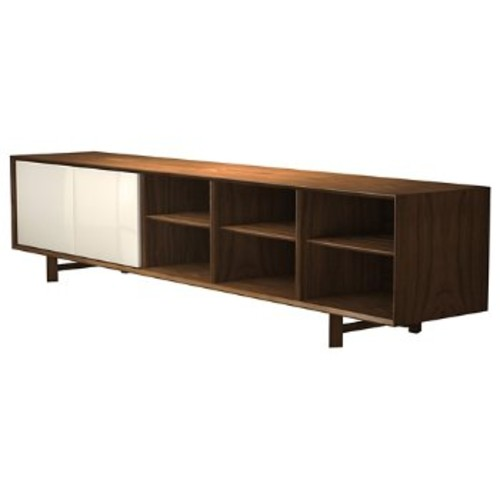 Chiswick Media Cabinet [Finish : Walnut and Beige Lacquer]