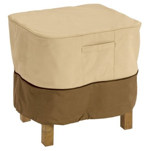 Classic Accessories Veranda Square Patio Ottoman/Side Table Cover - Durable and Water Resistant Patio Furniture Cover, Large [Large]